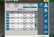 UHarvest Pro 4240 Report Screen