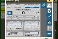 UHarvest Pro 4240 Unload Screen