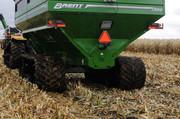 Grain handling equipment, chaser bin, hopper wagon, 1100 bushel, 1300 bushel, 1500 bushel, 2000 bushel, largest grain cart, grain cart with tracks