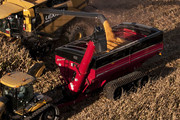 1300 bushel dual auger grain cart, chaser bin, hopper wagon, grain handling, largest grain cart, grain cart with tracks