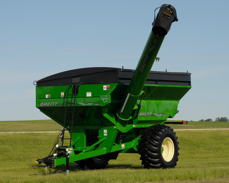 corner auger grain carts brent farm equipment model 782 brent grain