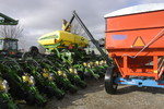 Gravity Box Auger Filling a Planter
