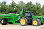 Killbros 1113 Double Auger Grain Cart on Tractor