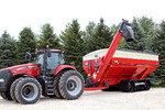 Killbros 1613 Double Auger Grain Cart on Tractor