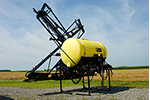 300 Gallon Folded Sprayer On Parking Stands