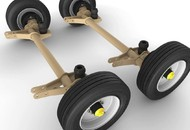 3955XL Undercarriage with Rubber-Cushioned Suspension and Oil Bath Hubs