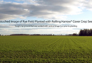Cover Crop Seeder Field-Cereal Rye