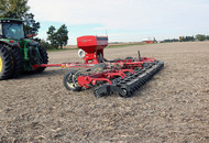 Cover Crop Seeder In Field 2-Rolling Harrow
