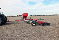 Cover Crop Seeder In Field-Rolling Harrow