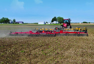 Rolling Harrow in Field