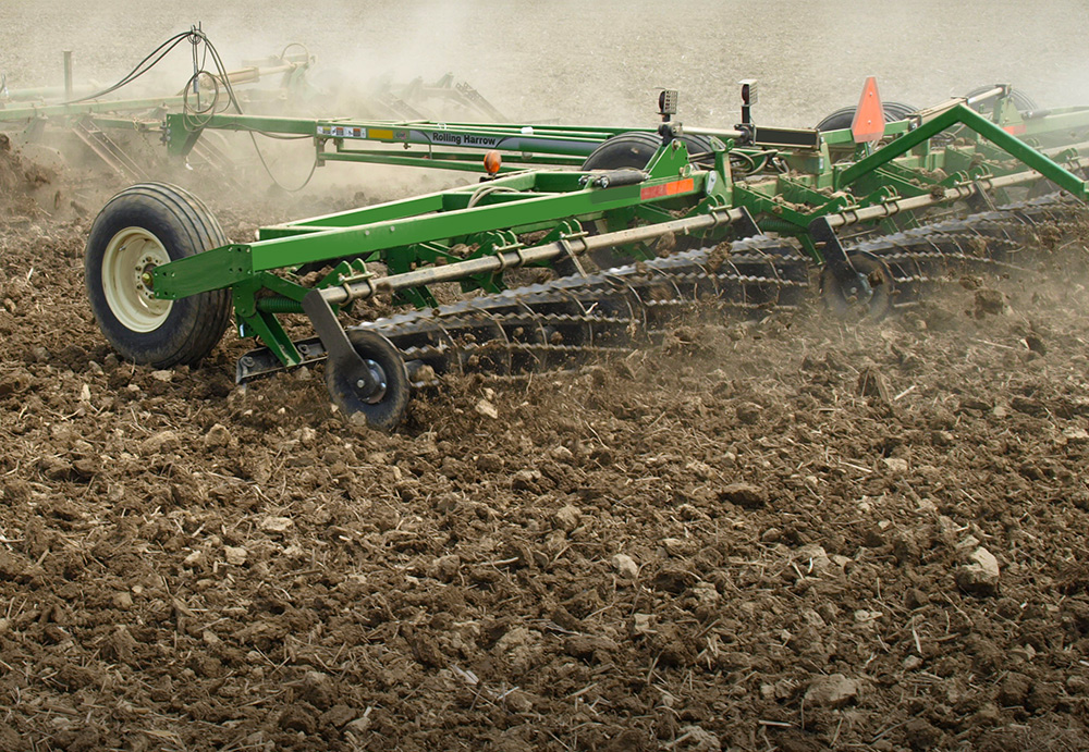 Rolling Basket Harrow : Rolling harrow single basket unverferth seedbed tillage