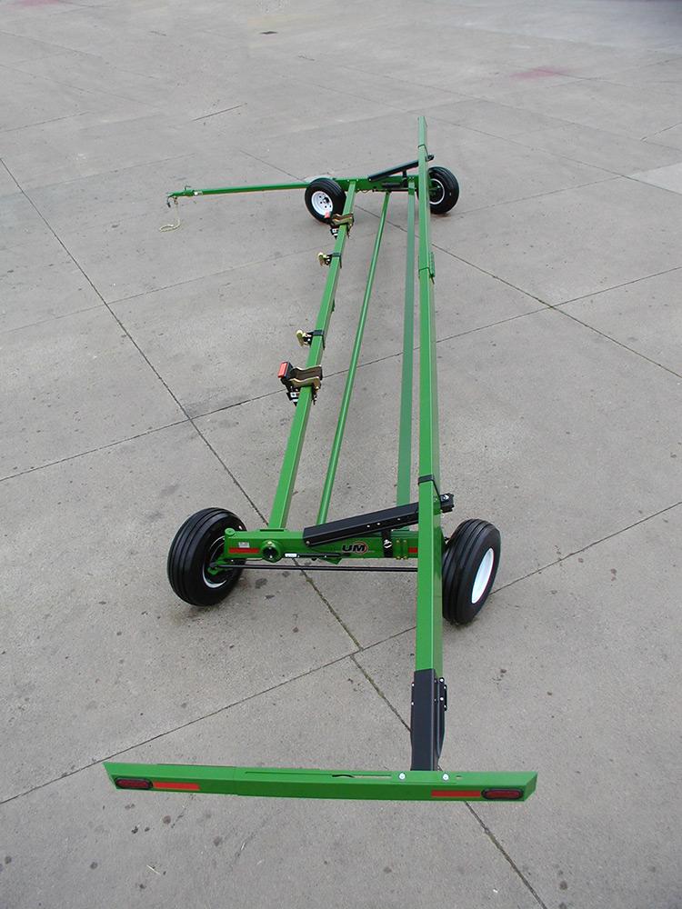 aws fieldrunner unverferth header transports aws fieldrunner rear rear brakes